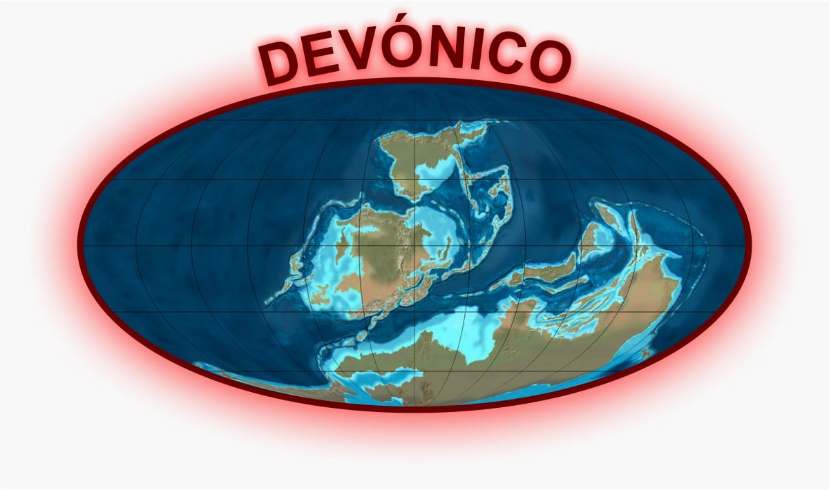 Devónico Mapa