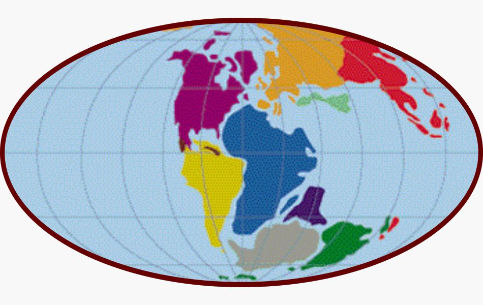 Mapa Mesozoico